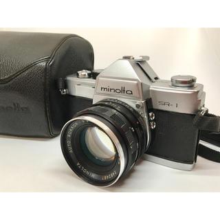 コニカミノルタ(KONICA MINOLTA)のminolta SR-1 / AUTO ROKKOR-PF 55mm f1.8(フィルムカメラ)