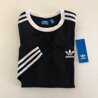アディダス(adidas)のadidas アディダス スリーストライプス ロンT ロンティー 黒(Tシャツ(長袖/七分))