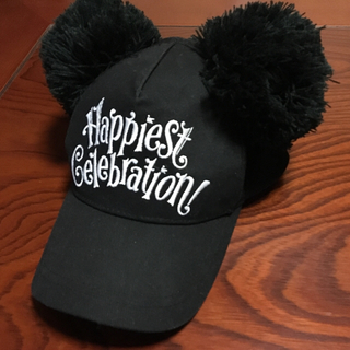 ディズニー(Disney)の35周年 ミッキーマウス ポンポン付きキャップ ブラック(キャップ)