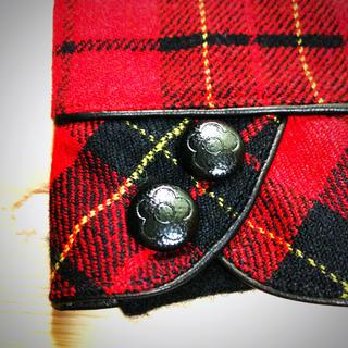 手袋 レディース 赤タータンチェック×ブラック プレゼントに◎(手袋)