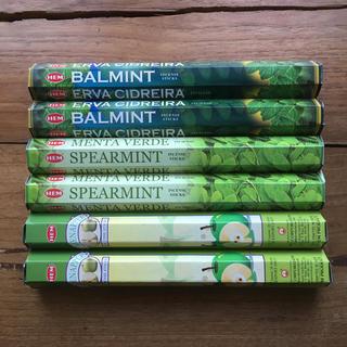 送料無料 新品 お香6箱セット バルミント スペアミント グリーンアップル(お香/香炉)
