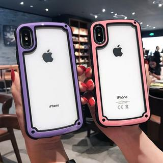 iPhone ケース  ピンク 透明 人気(iPhoneケース)