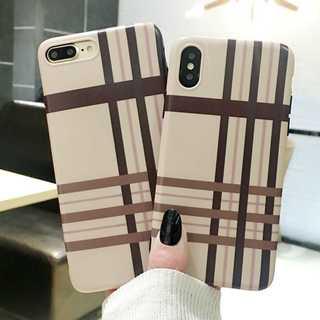 チェック柄 ベージュ ブラウン チョコレート iPhone8/7(iPhoneケース)