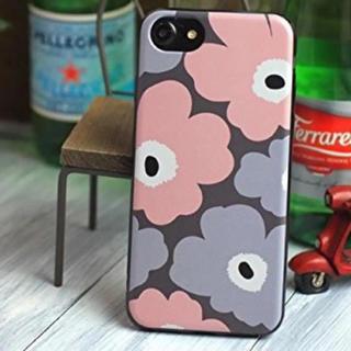 ラッキーママ様専用ページ♡マリメッコiPhone7ケース♡ピンクグレー(iPhoneケース)
