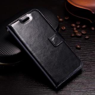 iPhone6 6S 手帳型ケース レザー フィルム 携帯ケース ブラック(iPhoneケース)