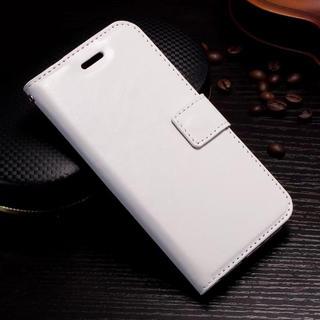 iPhone6 6S 手帳型ケース レザー フィルム 携帯ケース ホワイト(iPhoneケース)