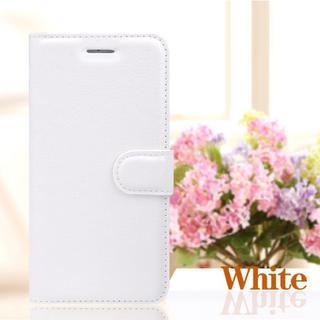 iPhone6 6s 手帳型ケース フィルム カード 定期入れ ホワイト(iPhoneケース)