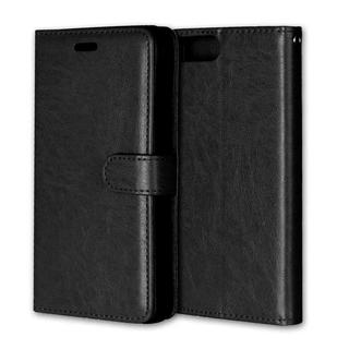 iPhone6 6S 手帳型レザーケース+保護フィルム収納5携帯ケース ブラック(iPhoneケース)