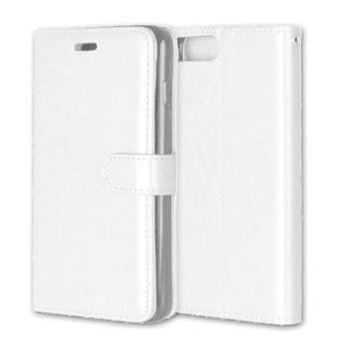 iPhone6 6S 手帳型レザーケース+保護フィルム収納5携帯ケース ホワイト(iPhoneケース)
