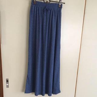 デニム色 ロングスカート(ロングスカート)