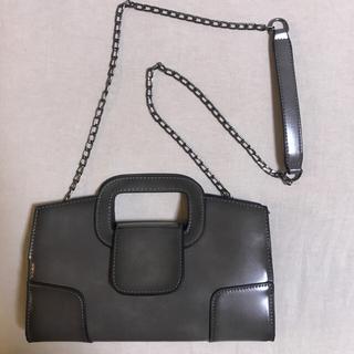 ZARA - 【新品未使用】クラッチバッグ ショルダーバック グレー