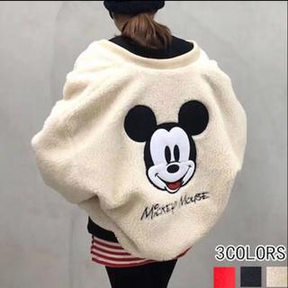 ディズニー(Disney)のミッキーデザイン ボアブルゾン ペアルック(ブルゾン)