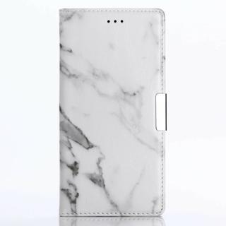iPhone7 iPhone8 ホワイト マーブル 大理石柄 手帳型ケース(iPhoneケース)