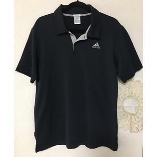 アディダス(adidas)のアディダス ポロシャツ 黒色(ポロシャツ)