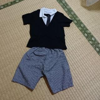 ニシマツヤ(西松屋)の80cmセットコーデ(セレモニードレス/スーツ)