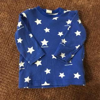ムージョンジョン  長袖 星柄 80 ブルー