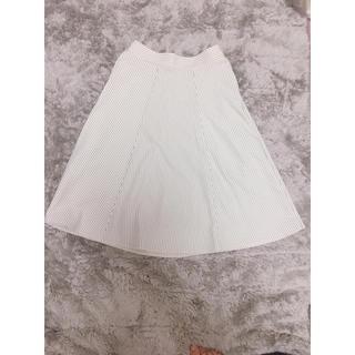 膝丈ストライプスカート(ひざ丈スカート)