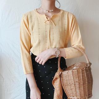 ロキエ(Lochie)のyellow knit(ニット/セーター)