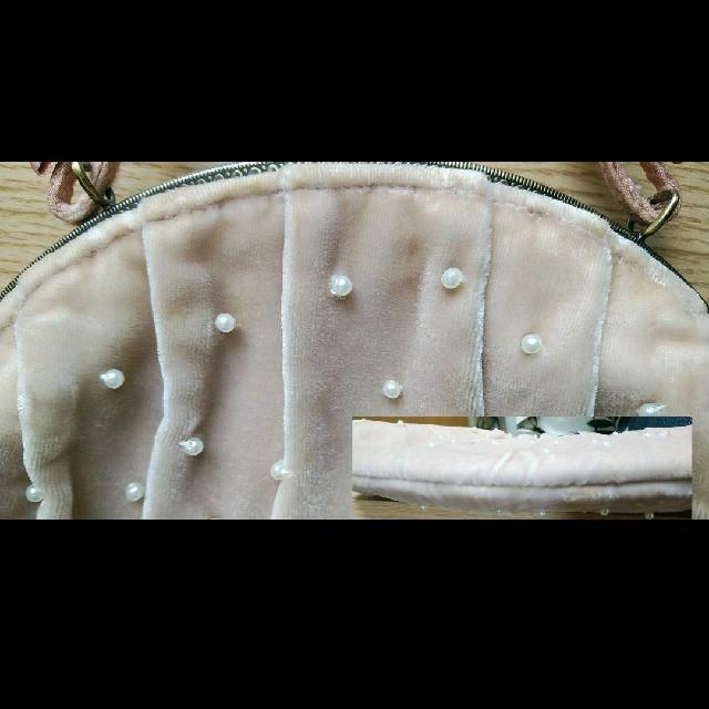 NOJESS(ノジェス)のアンティーク調パーティーバッグ ベロア パール レディースのバッグ(ハンドバッグ)の商品写真