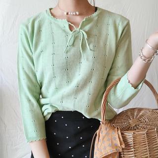 ロキエ(Lochie)のgreen knit(ニット/セーター)