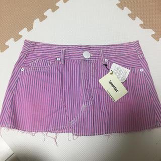 スパイラルガール(SPIRAL GIRL)のストライプミニスカート 新品タグ付き(ミニスカート)