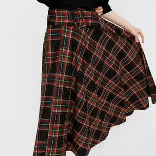 ZARA - 【XSサイズ】タグ付き ザラ安室さんコス用 チェック柄 スカート ロングスカート