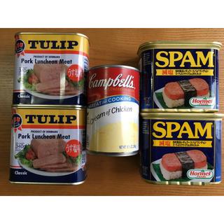 コストコ(コストコ)のチューリップポーク スパム 減塩 キャンベル チキンクリームスープ 詰め合わせ(缶詰/瓶詰)
