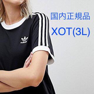 adidas - 【レディースXOT(3L)】黒  3ラインTシャツ  アディダスオリジナルス