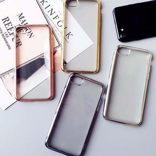 メタルカラーX/XS iPhoneケース TPU ソフト クリアカバー(iPhoneケース)