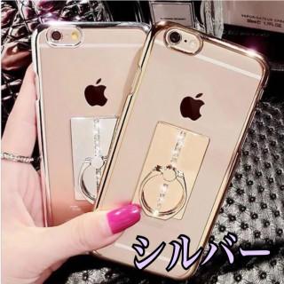 ⭐️SALE⭐️【リング付きiPhoneケース】シルバーiPhoneX.XS(iPhoneケース)
