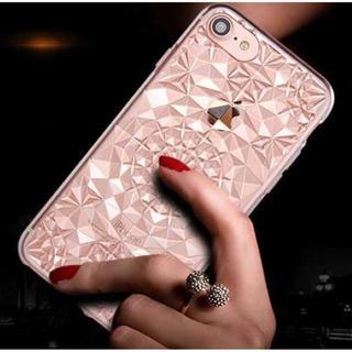 ピンク iPhone7 iPhone8 ダイヤ カット ソフトケース(iPhoneケース)