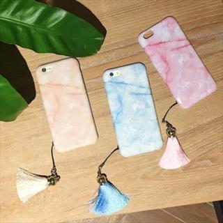新品 フリンジ付き大理石柄iPhoneケース 全3色 送料無料(iPhoneケース)