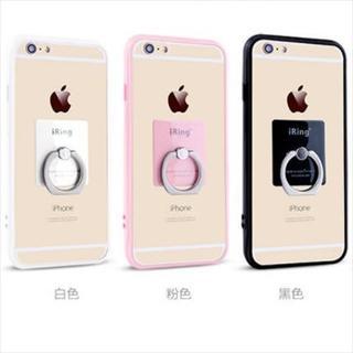 新品 iRing付きフチドリカラークリアiPhoneケース 全3色 送料無料(iPhoneケース)