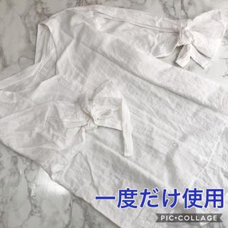 ガーゼ素材系のキャンディスリーブブラウス(シャツ/ブラウス(長袖/七分))