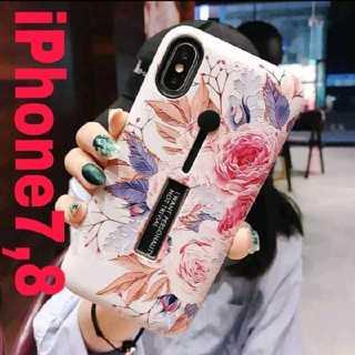 【カラフルフラワー】iPhone7 iPhone8 ケース カバー (iPhoneケース)