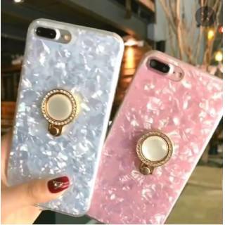 ★iPhone 7/8plus アイフォンケース キラキラ リング付き シェル(iPhoneケース)
