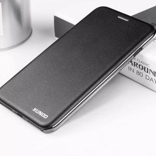 【ブラック】iPhone7 8 リング付 高級感 スマート 手帳型ケース(iPhoneケース)