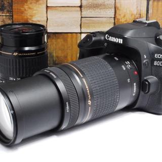 キヤノン(Canon)の【高級ボディ★】Canon 80D ダブルレンズキット (デジタル一眼)