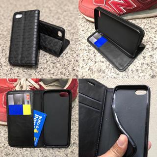 レザーケース☆iPhone7/8X.XS手帳ケース/幾何柄型押し(iPhoneケース)