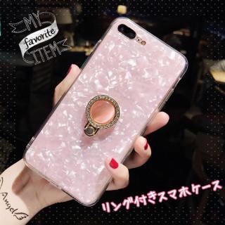 きらきら シェルスマホケース iphone7 iphoneケース(iPhoneケース)
