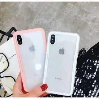 iPhone7ケース iPhone8ケース 韓国風 クリア サイドカラ― ピンク(iPhoneケース)