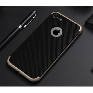 iPhone7  ケース 高級感 おしゃれ シンプル ブラック(iPhoneケース)