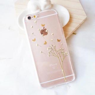 かすみ草のクリアケーススマホケースiPhoneX/XS/XsMax/XR/7/8(iPhoneケース)