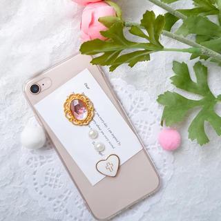 かわいいパーツのスマホケースiPhoneX/XS/XsMax/XR/7/8/6(iPhoneケース)
