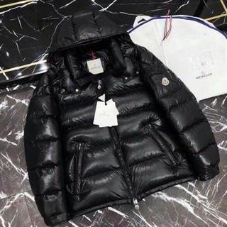 MONCLER - 黒 moncler 羽毛ジャケット 男女兼用 サイズ:2/M