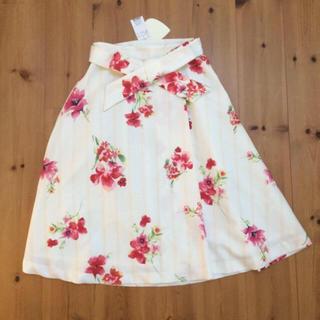 トランテアンソンドゥモード(31 Sons de mode)の新品タグ付♡トランテアン♡花柄スカート♡(ひざ丈スカート)