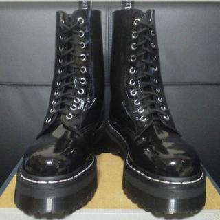 ドクターマーチン(Dr.Martens)の【激レア】Dr.Martens アギネスコラボ UK6 黒 厚底 パテント(ブーツ)