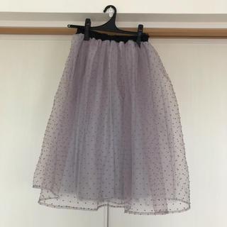 シマムラ(しまむら)のチュールスカート 紫 パープル Lサイズ(ひざ丈スカート)