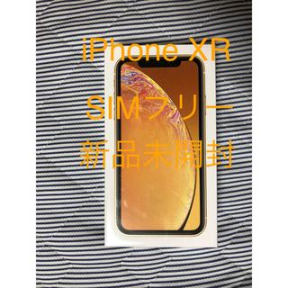アイフォーン(iPhone)の⭐︎新品未開封⭐︎au iPhoneXR 64GB イエロー SIMフリー(スマートフォン本体)