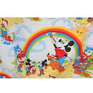 Disney - ミッキー ヴィンテージ シーツ レインボー 生地